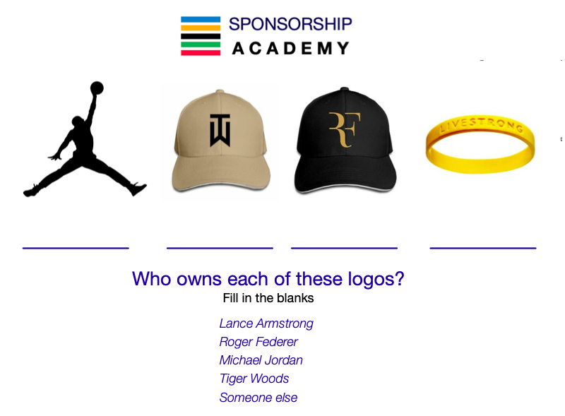 Air Jordan, Tiger Woods, Roger Federer, Lance Armstrong